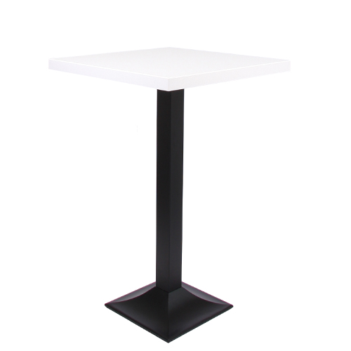 plateau de table MDF 44 mm d'épaisseur, 70 x 70 cm décor blanc