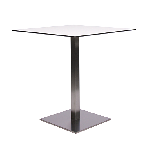 plateau de table HPL compact 10 mm, 69 x 69 cm blanc
