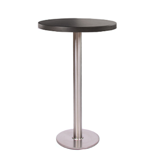 plateau de table HPL compact 10 mm, Ø 69 cm noir
