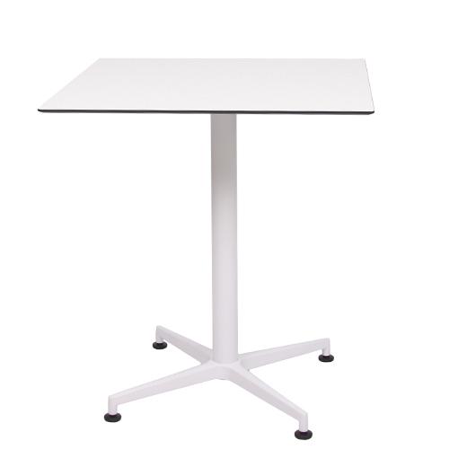 plateau de table HPL compact blanc, 69 x 69 cm