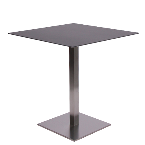 plateau de table HPL compact 10 mm, 69 x 69 cm noir