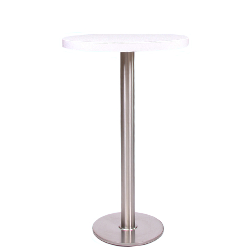 plateau de table HPL compact 10 mm, Ø 69 cm blanc
