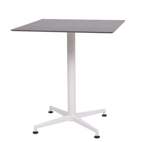 plateau de table HPL compact noir, 69 x 69 cm