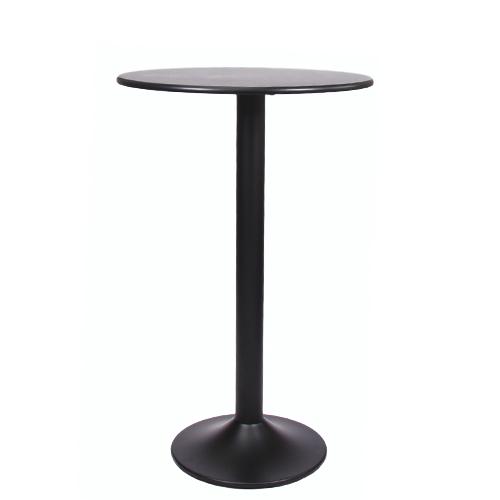 plateau de table MDF 18 mm d'épaisseur, ø 70 cm décor noir