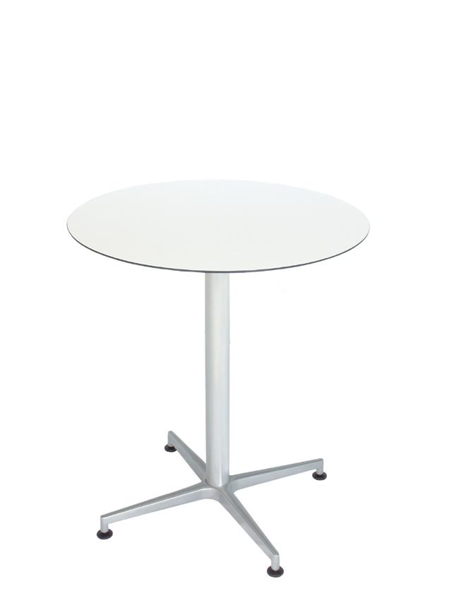plateau de table HPL compact blanc, Ø 69 cm