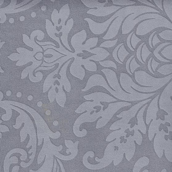 Tissu ornement baroque BD26 gris pierre