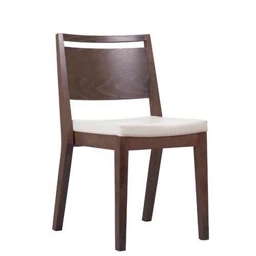 Chaise en bois  LUCAS P ST - empilable