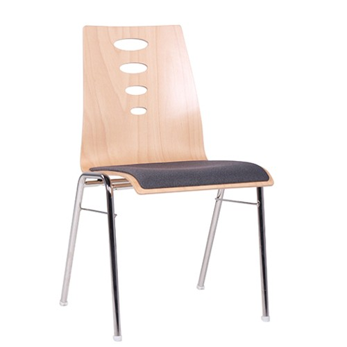 Chaise coque en bois / chaise empilable COMBISIT A50 SP