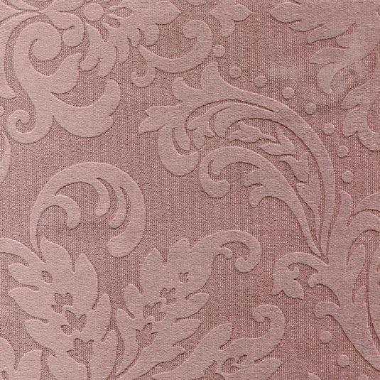 Tissu ornement baroque BD13 vieux rose