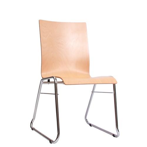 Holzschalenstuhl / Stapelstuhl COMBISIT C40 ohne Sitz- und Rückenpolster