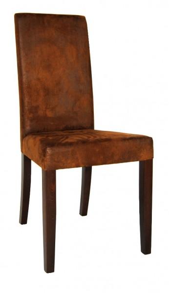Chaise rembourrée RELA aspect daim