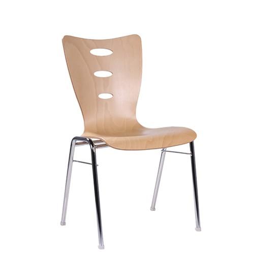 Chaise coque en bois / chaise empilable COMBISIT A31