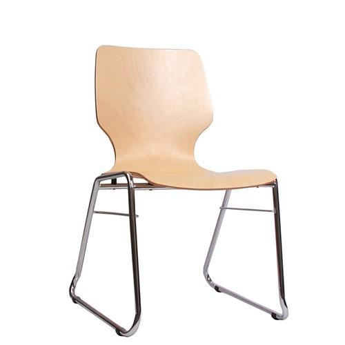 Holzschalenstuhl / Stapelstuhl COMBISIT C20 ohne Sitz- und Rückenpolster
