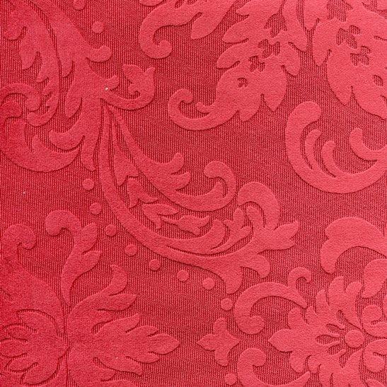 Tissu ornement baroque BD43 bordeaux
