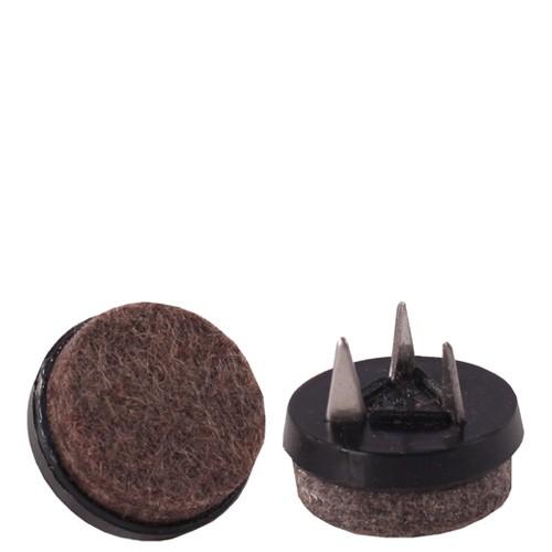 Set (4 pièces) patins de sol feutrine noire