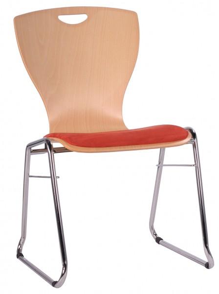 Chaise coque en bois / chaise empilable COMBISIT C60GSP