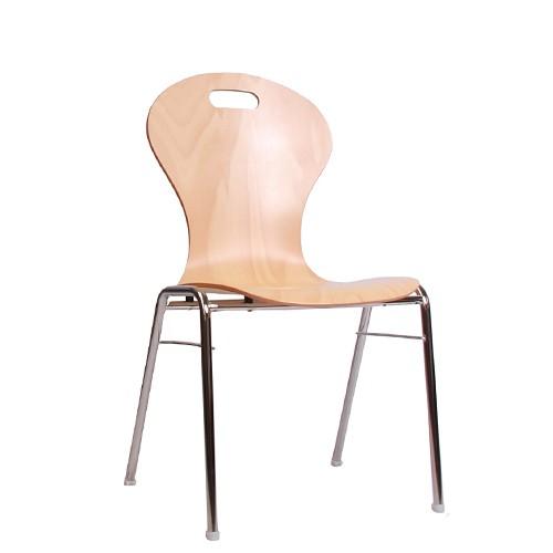 Chaise coque en bois / chaise empilable COMBISIT A10G