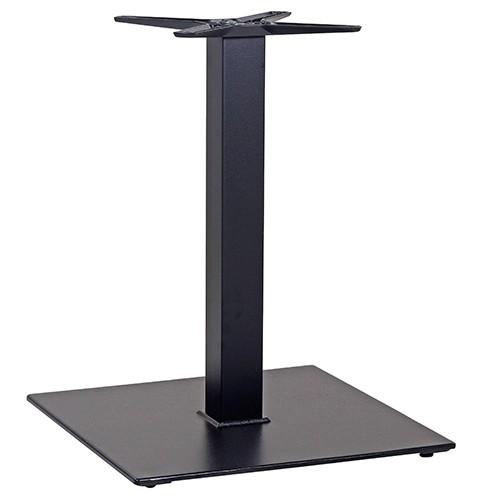 Tischgestell schwarz aus Stahl Mittelsaeule