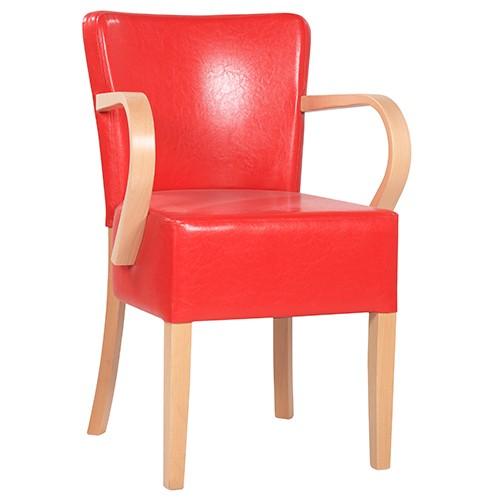 Chaise rembourrée avec accoudoirs TANJA AL XL - grande assise