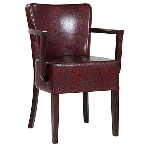 Chaise rembourrée avec accoudoirs TANJA AE XL - grande assise