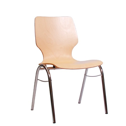 Holzschalenstuhl / Stapelstuhl COMBISIT B20 ohne Sitz- und Rückenpolster