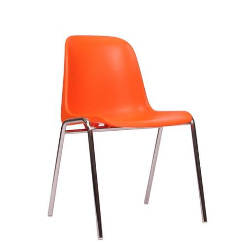 Chaise empilable PAULA - structure chromée