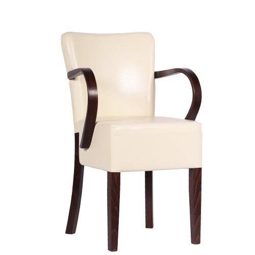 Chaise rembourrée avec accoudoirs TANJA AL