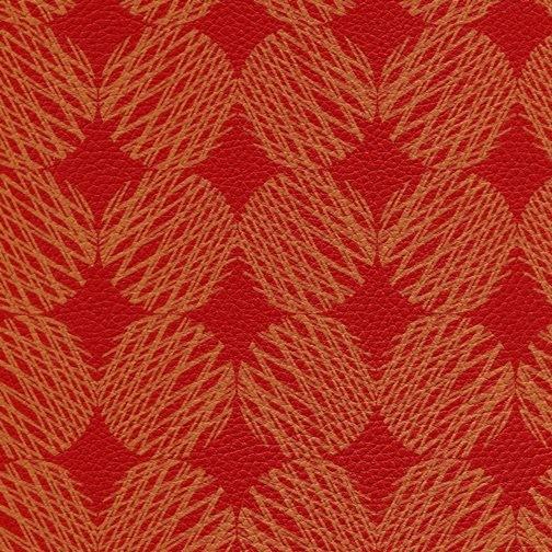 Hochwertiges Kunstleder im RETRO LOOK rot