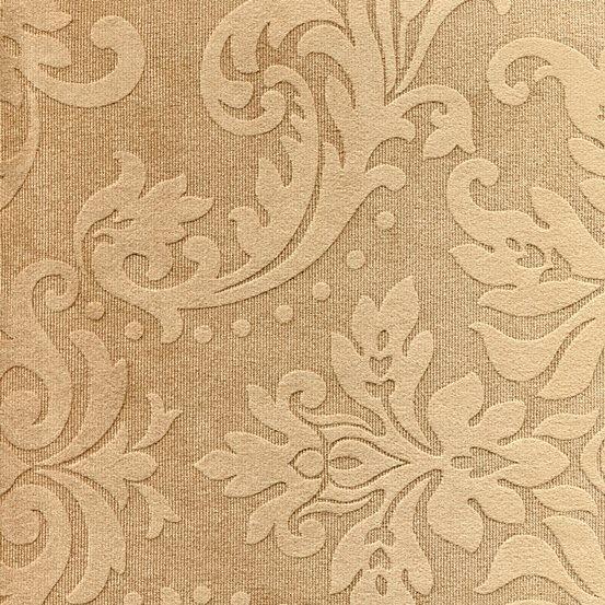 Tissu ornement baroque BD44 marron clair