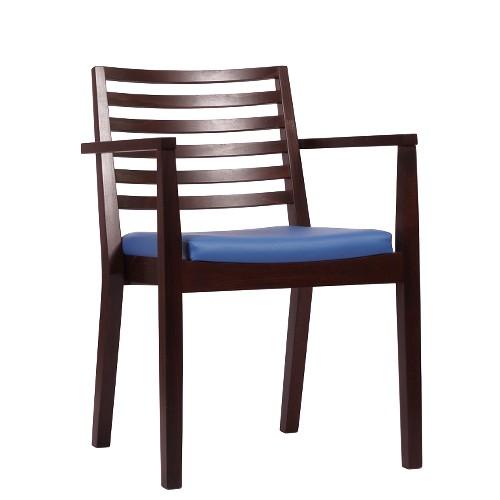 Chaise empilable en bois LUISA P AL ST - avec accoudoirs