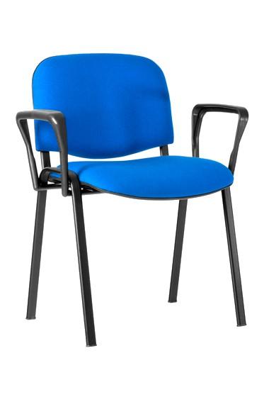 Chaise avec accoudoirs ISO AL - structure époxy noire