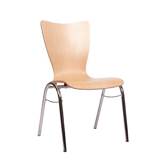 Holzschalenstuhl / Stapelstuhl COMBISIT B30 ohne Sitz- und Rückenpolster