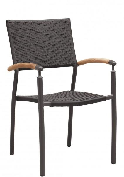 Chaise de terrasse avec accoudoirs TORIN - empilable