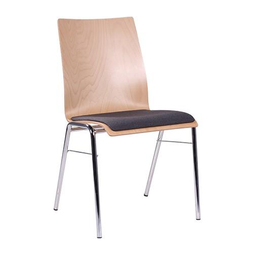 Chaise coque en bois / chaise empilable COMBISIT H44 SP - à partir de 20 pièces
