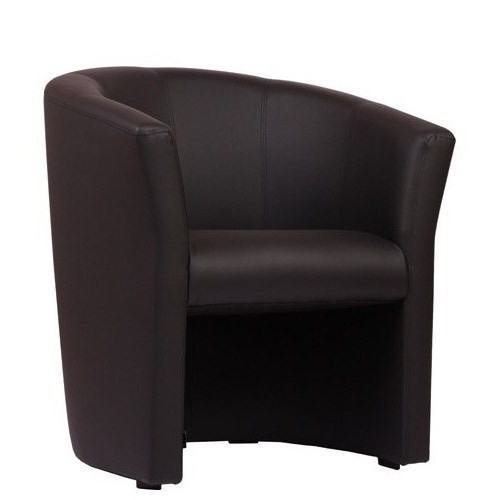 Fauteuil CLUB - cuir synthétique noir