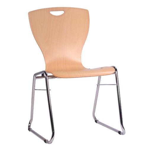 Chaise coque en bois / chaise empilable COMBISIT C60G
