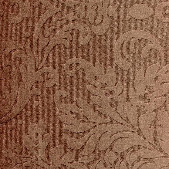 Tissu ornement baroque BD84 marron foncé