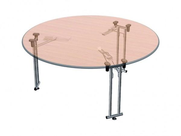 Klapptischgestelle für runde Tischplatten