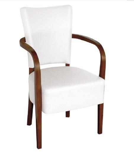 Chaise rembourrée avec accoudoirs ROBERTA