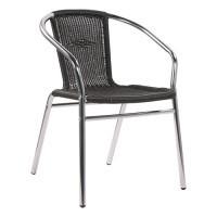 Chaise de terrasse KIR gris-brun - empilable
