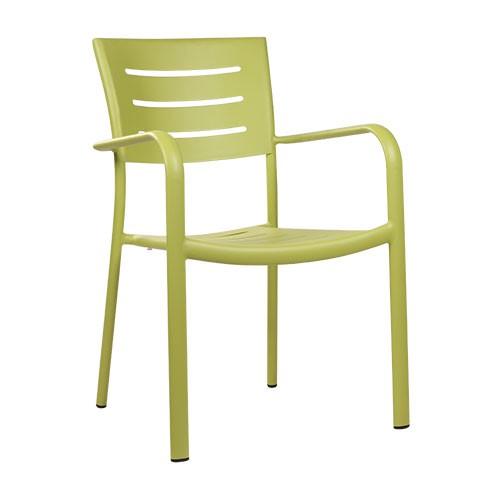 Chaise de terrasse BARIO vert citron - empilable - PROMO