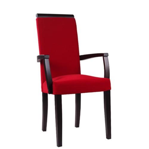 Chaise rembourrée avec accoudoirs LINDA AE