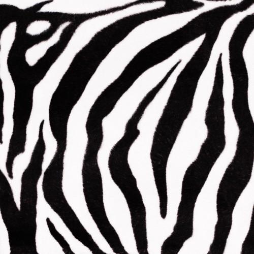 Tissu imitation fourrure ZEBRA - zèbre