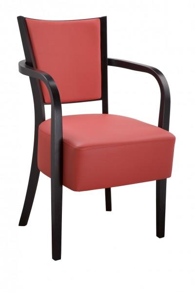 Chaise rembourrée avec accoudoirs ALBERT