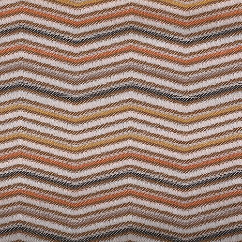 Tissu zigzag LINN05 beige-marron