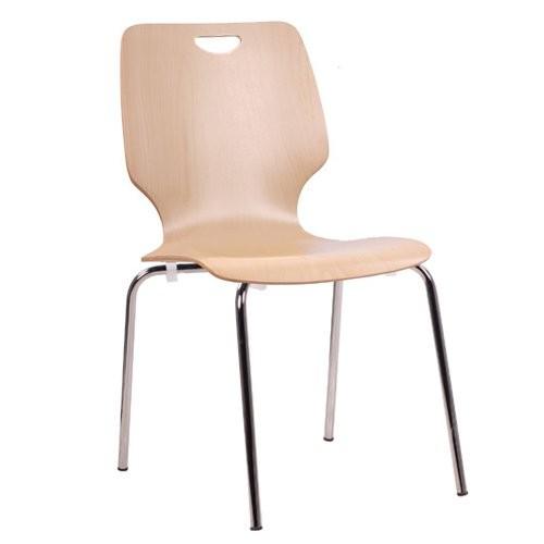Chaise coque en bois / chaise empilable COMBISIT F20G