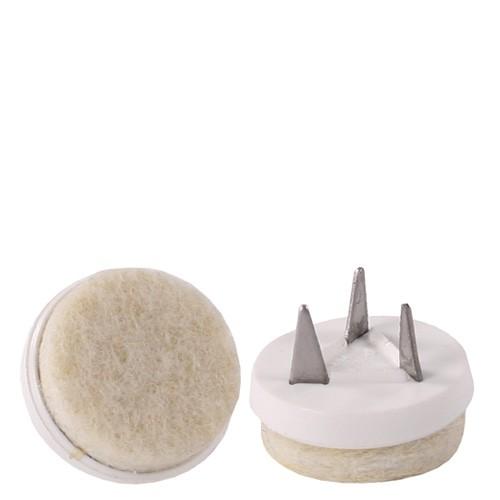 Set (4 pièces) patins de sol feutrine blanche