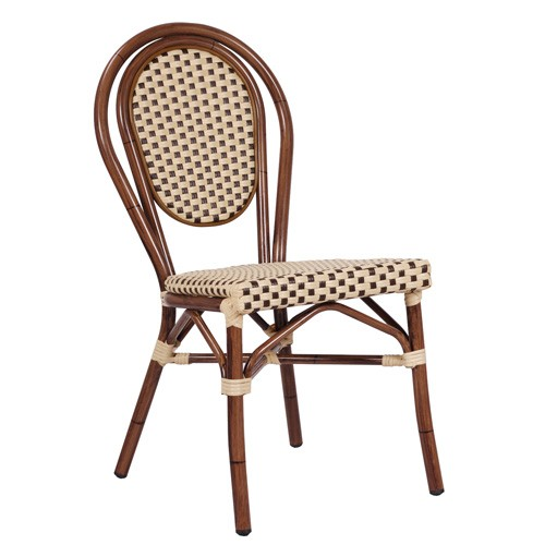 Chaise de terrasse BAMBU beige/marron - empilable-PROMO
