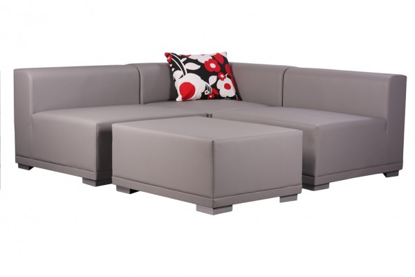 Ensembre lounge 4 pièces MELANO - avec 9 coussins