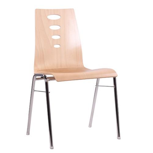 Chaise coque en bois / chaise empilable COMBISIT A50